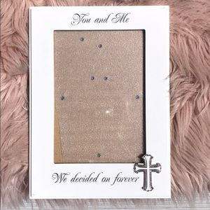 5x7 White Wedding Picture Frame